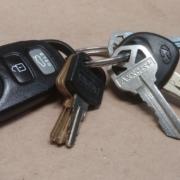 Ignition keys of a car