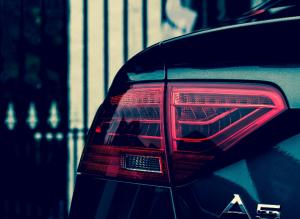 A rear view of an Audi A5