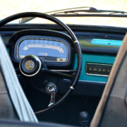 A car with the keys in the ignition